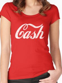 Cash - white Women's Fitted Scoop T-Shirt
