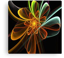 Glowing Bow Flower Canvas Print