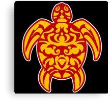 maori turtle tortue tattoo tribal Canvas Print