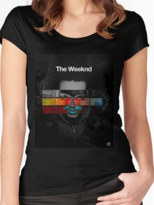 The weeknd 3 Women's Fitted Scoop T-Shirt