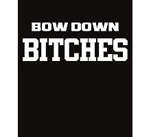bow down white Photographic Print