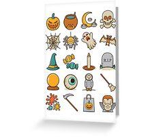 Halloween Icons Greeting Card