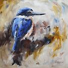 Sacred kingfisher by Anny Arden