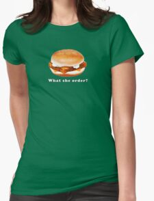 What she order?  Womens Fitted T-Shirt