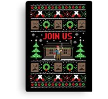 Evil Dead Ugly Sweater Canvas Print