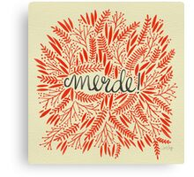 Pardon My French – Red & Cream Canvas Print