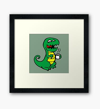 tea rex dino fun  Framed Print