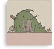 Merry Cat-mas! Canvas Print