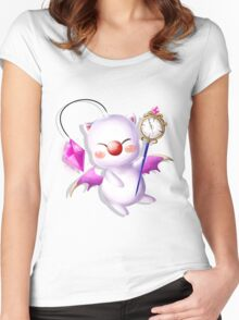 Time Traveling Moogle Women's Fitted Scoop T-Shirt