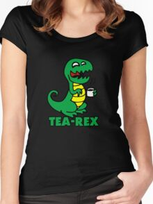 tea rex dino fun  Women's Fitted Scoop T-Shirt