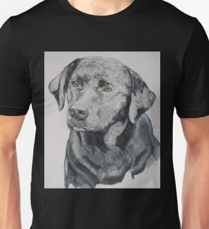 Drawing of a black labrador Unisex T-Shirt