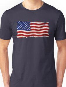 Tattered Grunge Patriotic USA Flag, United States Unisex T-Shirt