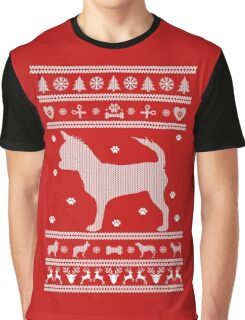 Christmas Dog Chihuahua Ugly Sweater Graphic T-Shirt