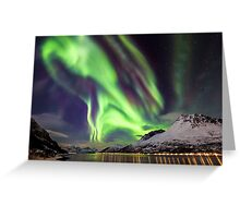 Aurora boreal Greeting Card