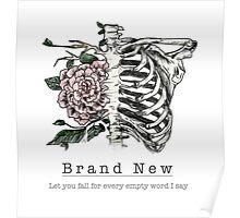Brand New - Rib Cage Lyrics Poster
