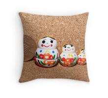 Russian Dolls in MIniature, all handpainted, Throw Pillow