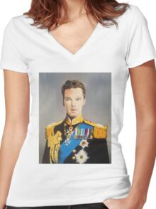 sir cumberbatch Women's Fitted V-Neck T-Shirt