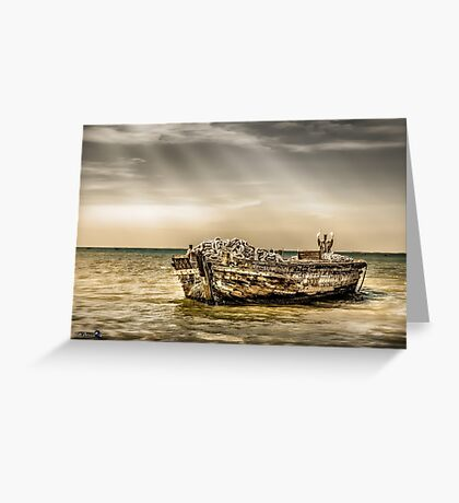 Boat had better days Greeting Card