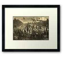 Gas Mask Island Framed Print