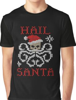 Hail Santa Octopus Graphic T-Shirt