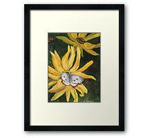 White Butterfly in Summer Framed Print