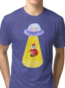 Happy Galactic Holidays Tri-blend T-Shirt