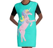 Princess DreamSplicer - the cyborg unicorn Graphic T-Shirt Dress
