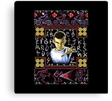 Eleven Ugly Sweater 8-Bit Canvas Print