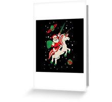 Santa and Unicorn Greeting Card