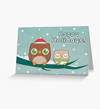 Owl Be Home for the Holidays Greeting Card