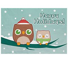 Owl Be Home for the Holidays Photographic Print