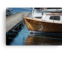 Vintage boat is moored Canvas Print
