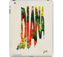 Indiana Typographic Watercolor Map iPad Case/Skin