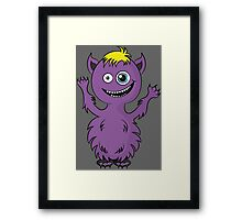 Cute Monster Framed Print