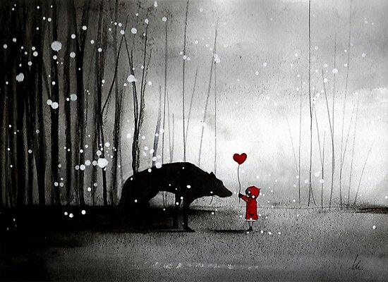 Little Red Riding Hood ~ I love You  by minoule