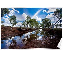 Water hole in the Pilbara Poster