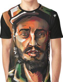 Brush Paint Fidel Graphic T-Shirt