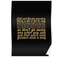 """Oasis... """"Don't go away"""" Song Lyric Poster"""