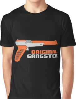Original Gangster NES Light Gun Joke Gaming Retro Duck Graphic T-Shirt