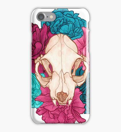 TWO Flower Skull iPhone Case/Skin