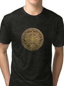 AZTEC,MAYAN CALENDAR Tri-blend T-Shirt