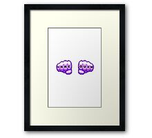 Game Over Fists Framed Print