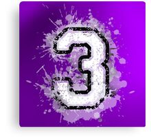 Number three over violet Canvas Print