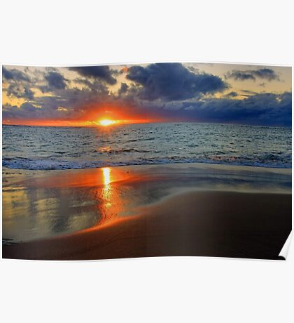 Sunset At Point Peron  Poster