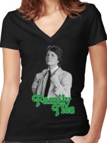 Michael J Fox - Family Ties Women's Fitted V-Neck T-Shirt