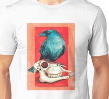 Corbeau et crane  Unisex T-Shirt