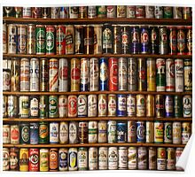 BEERS ON SHELVES Poster