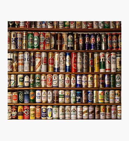 BEERS ON SHELVES Photographic Print