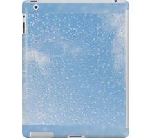 Melting snow drops blue sky iPad Case/Skin
