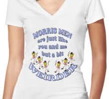 morris men are normal people Women's Fitted V-Neck T-Shirt